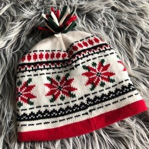 Accessories - NWOT Knit Winter Pom Pom Beanie Hat